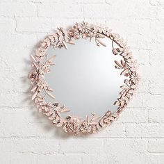 Sale ends soon. It's time to give your wall the crown it deserves. You could start with our exclusive Flower Crown Wall Mirror. This floral mirror features a gorgeous metal floral frame, complete with an easy-to-hang keyhole back. Jenny Lind, Flower Mirror, Flower Wall, Girl Nursery, Girl Room, Nursery Ideas, Nursery Room, Nursery Decor, Project Nursery