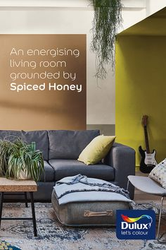 Our Colour of the Year Spiced Honey could transform your living space! Orange Pink, Burnt Orange, Living Room Designs, Living Spaces, May House, Best Interior, Interior Design, Honey Colour, Bedroom Paint Colors