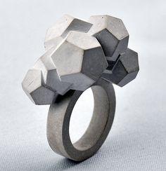 Mareike Kanafani - Brutalist Concrete Jewelry