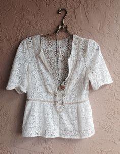 New for Fall Lace button down kimono top