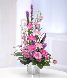 Margaret Anne Floral Designs of Hyde - the online flower shop for UK delivery of flowers and gifts, order worldwide Rosen Arrangements, Contemporary Flower Arrangements, Tropical Flower Arrangements, Church Flower Arrangements, Beautiful Flower Arrangements, Flower Centerpieces, Orquideas Cymbidium, Online Flower Shop, Funeral Flowers