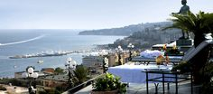 Grand Hotel Parker's – Naples, Italy $129 snique.  Rooftop lounge overlooking the Mediterranean, balconies w/each room, included breakfast, bike and scooter rentals