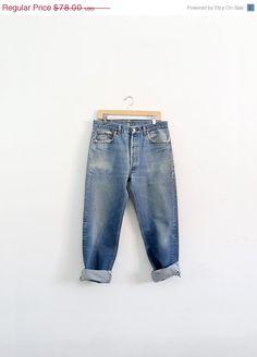 SALE Vintage Levis Jeans / 1980s Levis 501xx Denim by