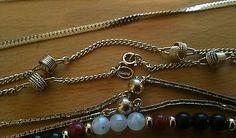Vintage necklace lot, Monet, Avon, America Showcase, gold tone, beaded, glasses
