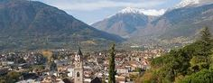 Merano, Italy  Merano or Meran is a town and comune in South Tyrol, northern Italy. Generally best known for its spa resorts, it is located within a basin, surrounded by mountains standing up to 3,335 m, at the entrance