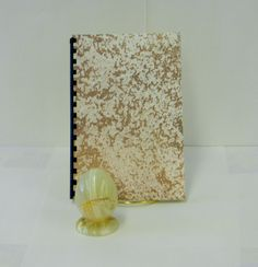 Logon and password notebook with a gold splattered by GunnySack, $10.00