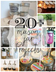 These are some awesome mason jar projects! Can't wait to make my own! #masonjars #diy #easycraft