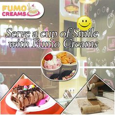 Serve a cup of Smile with #FumoCreams #IceCreamParlourInDelhi #SmokeIceCream #ColdRollIceCream #FumoCreams #IceCrreamShakes #LiquidNitrogenIceCream