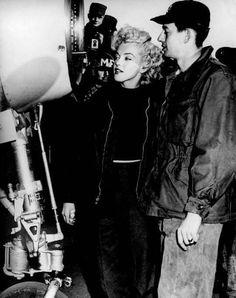 Marilyn in Korea in February 1954.