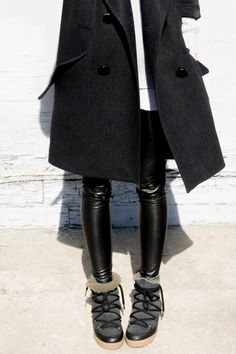 figtny.com | outfit • 22 Isabel Marant coat and Nowles boots / Aritzia sweater and legging