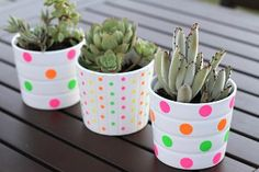 DIY Dot Pots | AllFreeHolidayCrafts.com