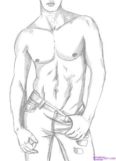 How to draw a sexy man tutorial.  Ridiculous but pointful...