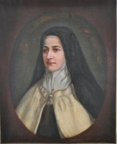Painting by Celine Martin: Mother Agnes of Jesus, of her sister, St Therese of Lisieux Ste Therese, St Therese Of Lisieux, Celine, Santa Teresa, Blessed Family, Catholic Saints, Patron Saints, Bride Of Christ, Mother Mary