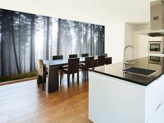 Morning Forest Mist wall mural kitchen preview