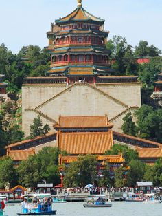 Summer Palace. Built in 1200 in Beijing, China. Myriad bridges, pagodas, gardens, lakes and stream covering 726 acres (294 hectares).