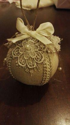 Palla di Natale shabby