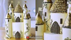 Castle cake tutorial part 1 - how to make a 3D buttercream Disney Prince...