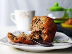 Bananowe muffinki zczekoladą — bezjajek!