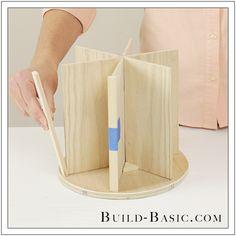 DIY Desk Supplies Lazy Susan by Build Basic - Step 15