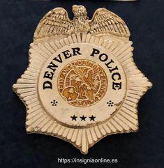 Denver Colorado Police Badge Funny Dancing Gif, Law Enforcement Badges, Police Badges, Dance Humor, Denver Colorado, App, Stars, Design, World