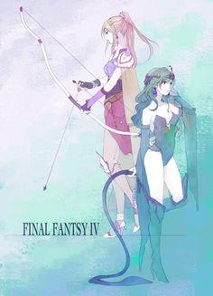 Rydia & Rosa (Final Fantasy IV) #ff4