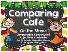 Comparative and Superlative Adjectives and Adverbs Pack Speech And Language, Language Arts, Adverb Activities, English Adjectives, 2nd Grade Ela, Color Copies, Teaching Grammar, Adverbs, Parts Of Speech