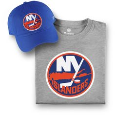 quality design 79e8e dd4db Men s New York Islanders Fanatics Branded Royal Gray T-Shirt and Hat Bundle