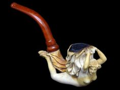 Meerschaum Pipe He would have liked this one, a little too much Wooden Smoking Pipes, Tobacco Pipes, Pipe Smoking, Meerschaum Pipe, Hand Pipes, Good Cigars, Pipes And Cigars, Pipe Dream, Buggy