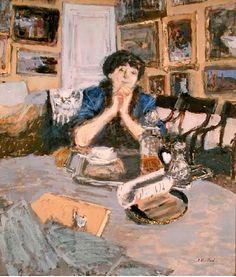 Madame Hessel with a Shawl, 1911 (oil on board), Edouard Vuillard