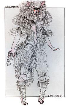 Griddlebone - original costume design, John Napier 1981