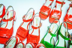 Orla Kiely for Clarks launches this week, time to embrace the colourful block heel