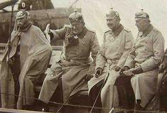 Prussians: Generalleutnant Ferdinand Graf von Zeppelin, Generalfeldmarschall Colmar Freiherr von der Goltz, Kaiser Wilhelm II, Generaloberst Helmuth von Moltke.