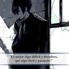 Es mejor algo difícil #ShuOumaGcrow #Anime #Frases_anime #frases