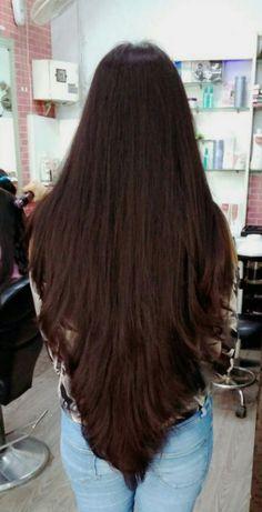 68 Ideas for haircut largo rizado Long Face Hairstyles, Haircuts For Long Hair, Girl Haircuts, Long Hair Cuts, Long Black Hair, Long Layered Hair, Dark Hair, Beautiful Long Hair, Gorgeous Hair