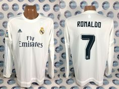 Details about REAL MADRID 2015 2016  7 RONALDO HOME FOOTBALL SOCCER SHIRT JERSEY  CAMISETA XL 03fc894fd377d