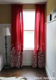 niños cortinas del dormitorio occidentales