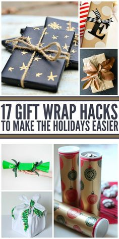 How to wrap presents - make them personal even on a budget - 17 Gift Wrap Hacks to Make the Holidays Easier