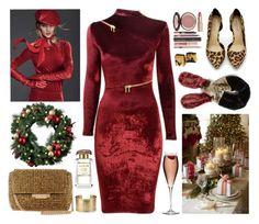 """245. Velvet Christmas"" by milva-bg ❤ liked on Polyvore featuring Agent Provocateur, Leith, Charlotte Tilbury, Karen Millen, Shoe Cult, Improvements and Blue Nile"