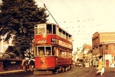 Historic Photos of the Last Trams in London in July 1952
