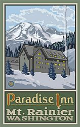 Paradise Inn Poster (Paul A. Lanquist - PAL) in the Discover Your Northwest Online Store
