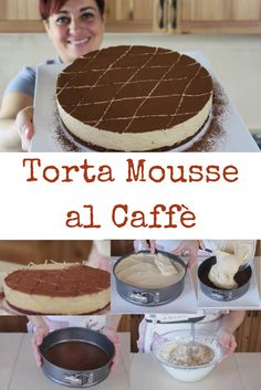 Torta mousse al caffè, ricetta facile per un dolce al cucchiaio goloso e raffinato.
