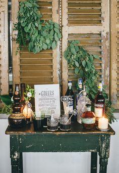 wedding mixology corner