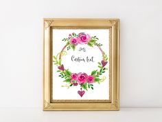 Custom Quote,Custom Print,Personalized Quote,Custom Art,Custom Poster,Quote Print,Custom Watercolor,ersonalized Poster,Floral Quote Print by MakesMyDayHappy on Etsy
