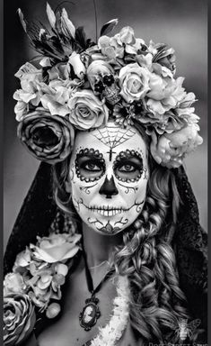 make-up day of the dead makeup halloween costume halloween dia de los muertos halloween