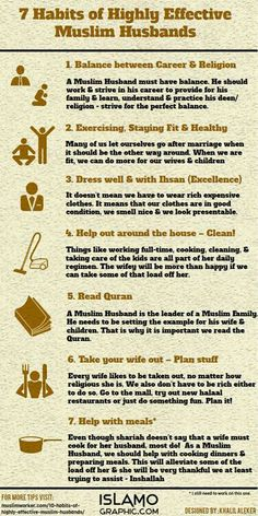 7 Habits of Highly Effective Muslim Husbands. In Sha Allah I can & I will!