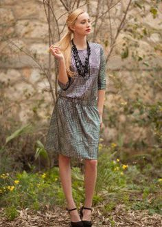 Silvery plaid dana dress