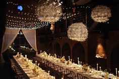 beautiful!  Read more - http://www.stylemepretty.com/2012/01/31/new-york-wedding-at-the-foundry-2/