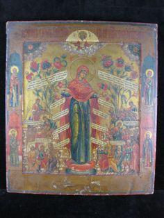altrussische-Ikone-Anfang-19-Jahrhundert-Gottesmutter-Freude-aller-Leidenden