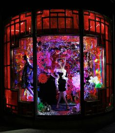 Harvey Nichols Xmas 2012 Rich exotic Oriental window display for the Holiday season