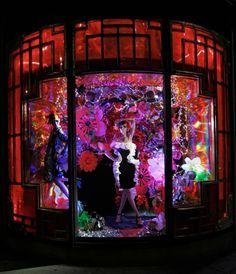 Harvey Nichols Xmas 2012 Rich exotic Oriental window display for the Holiday season